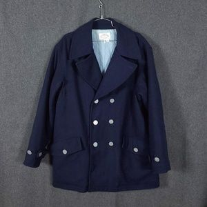 Armani Jeans Double Breasted Wool Navy Peacoat L